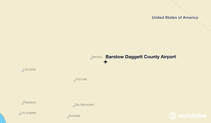 Barstow Daggett County Airport location on a map