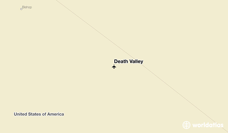 Death Valley location on a map