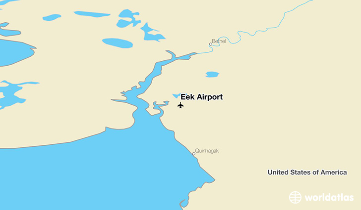 Eek Airport location on a map