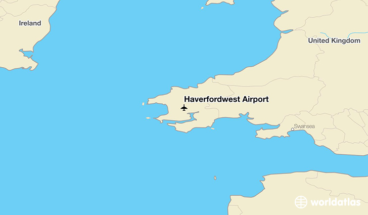 Haverfordwest Airport location on a map