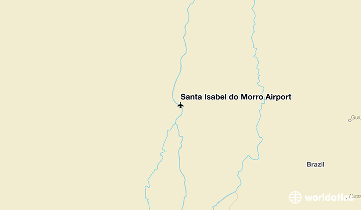 Santa Isabel do Morro Airport location on a map