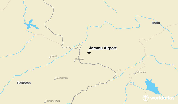 Jammu Airport location on a map