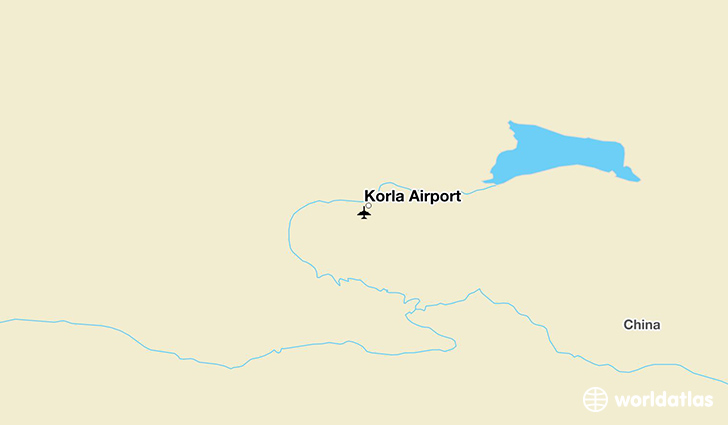 Korla Airport location on a map