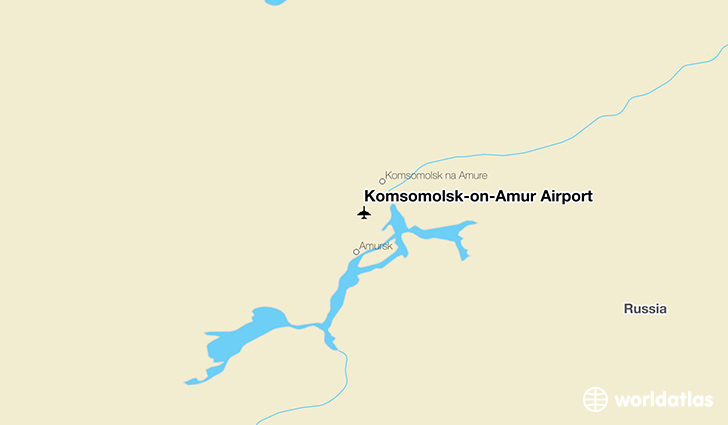 Komsomolsk-on-Amur Airport location on a map