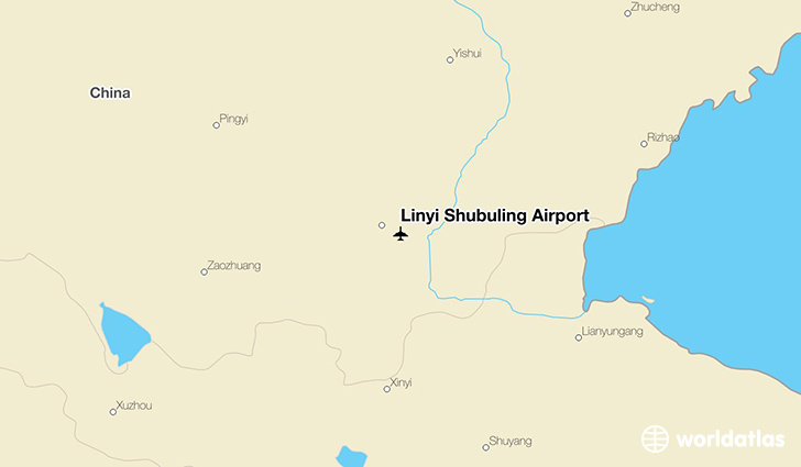 Linyi Shubuling Airport location on a map