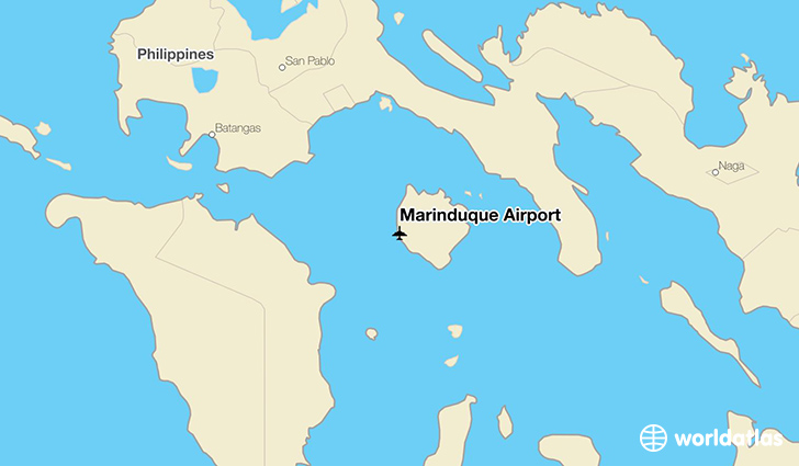 Marinduque Airport location on a map
