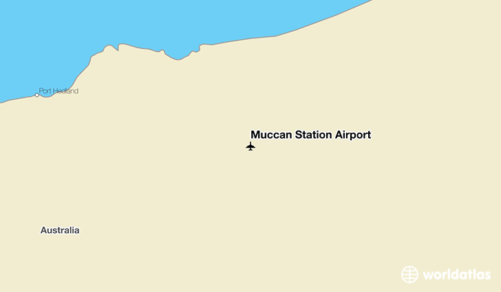Muccan Station Airport location on a map