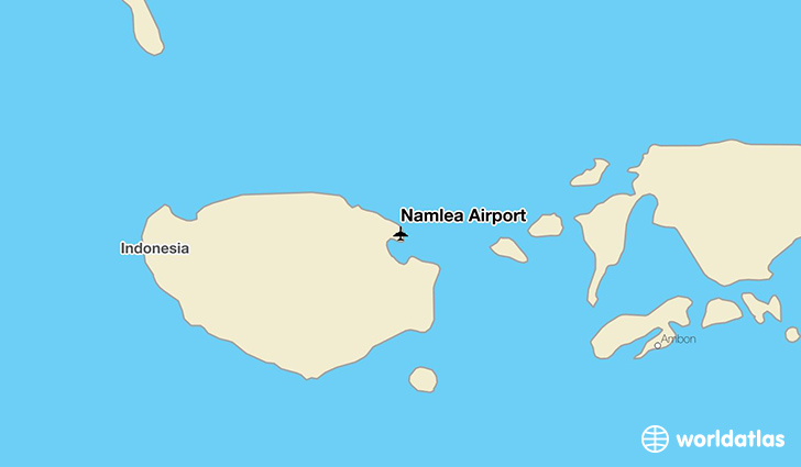 Namlea Airport location on a map