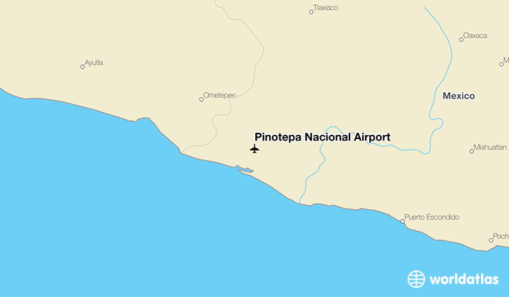 Pinotepa Nacional Airport location on a map