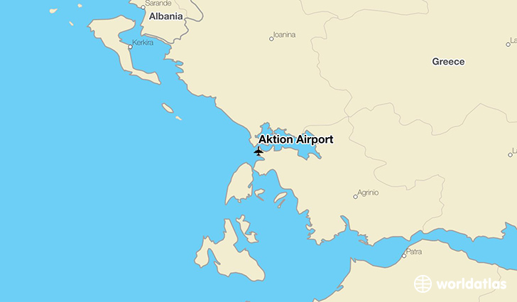 Aktion Airport location on a map