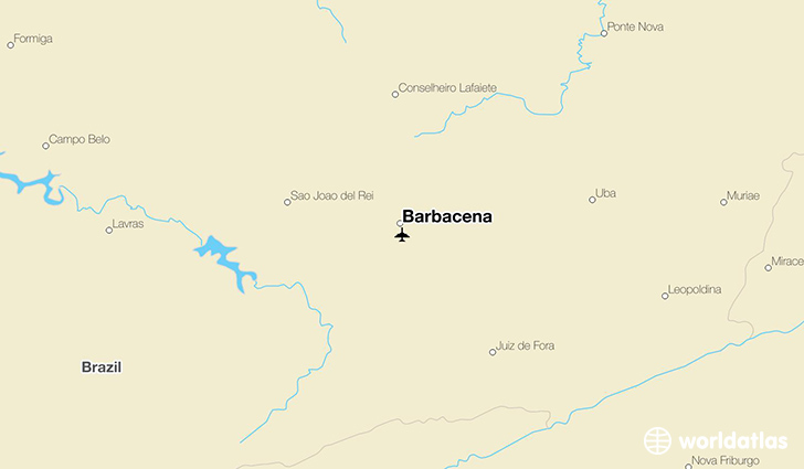 Barbacena location on a map