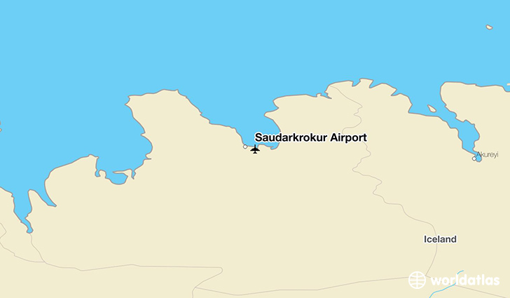 Sauðárkrókur Airport location on a map