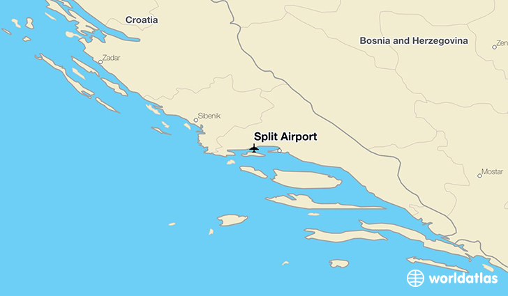 Split Airport location on a map
