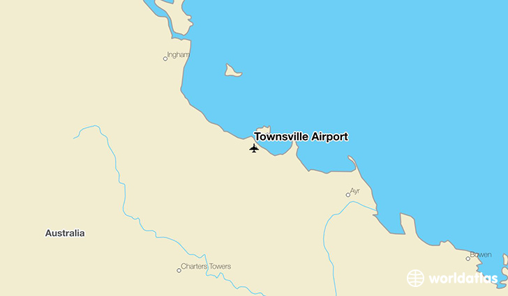 Townsville Airport Map Townsville Airport (TSV)   WorldAtlas