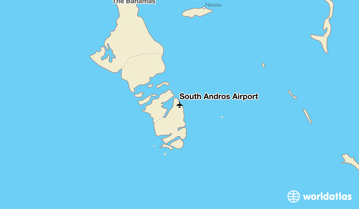 South Andros Airport location on a map