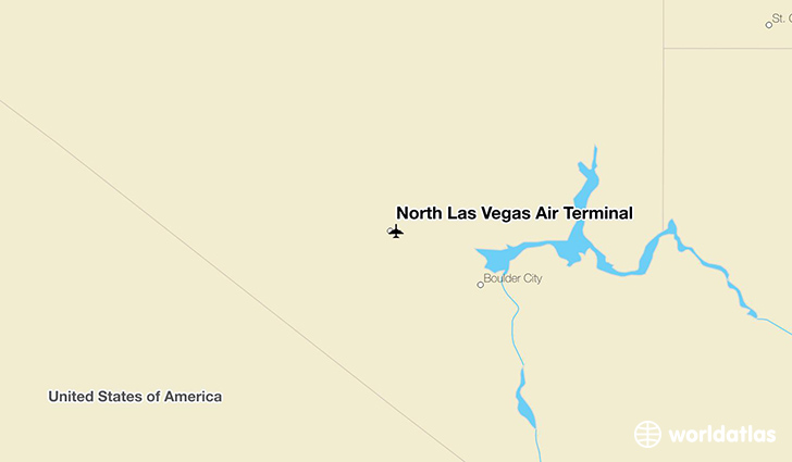 North Las Vegas Air Terminal location on a map