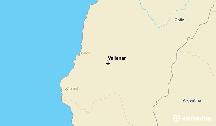 Vallenar location on a map