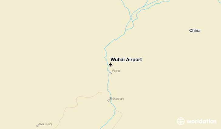 Wuhai Airport location on a map