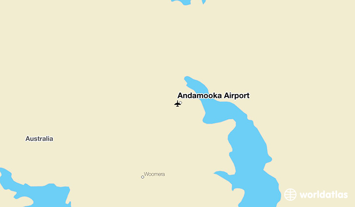 Andamooka Airport location on a map