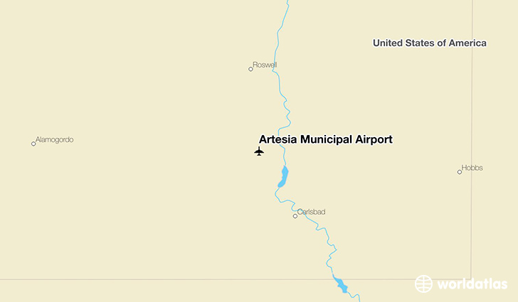 Artesia Municipal Airport location on a map