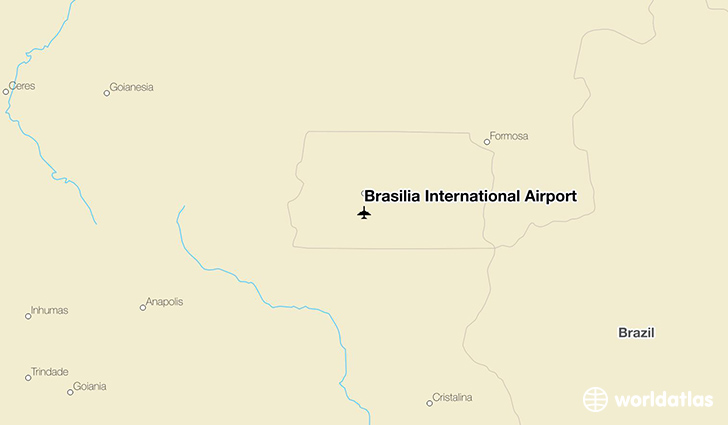 Brasilia International Airport location on a map