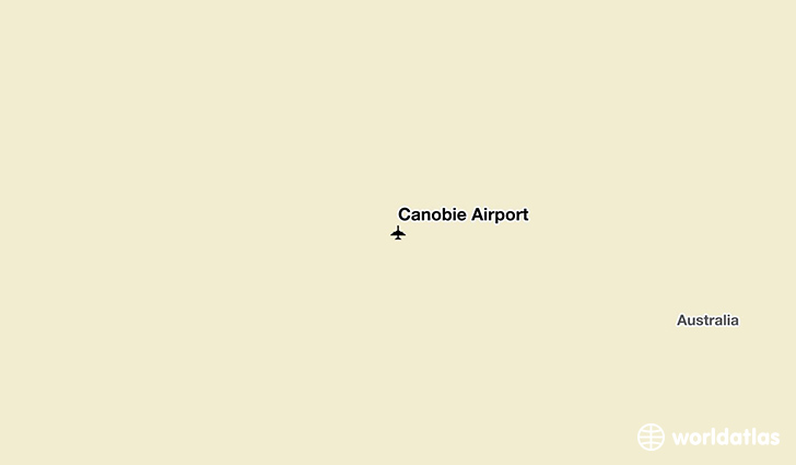 Canobie Airport location on a map