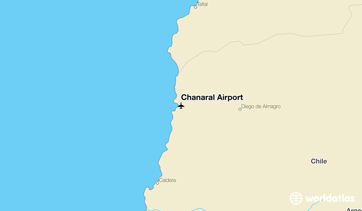 Chañaral Airport location on a map