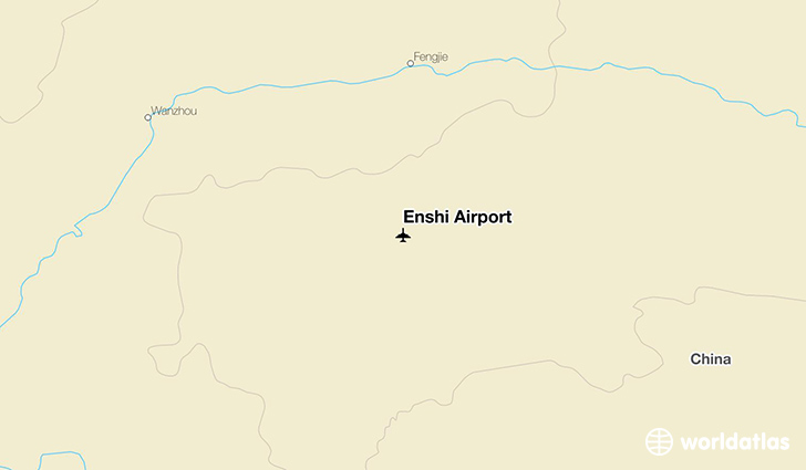 Enshi Airport location on a map
