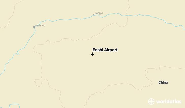 Enshi Airport ENH WorldAtlas - Enshi map