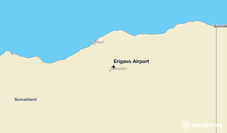Erigavo Airport location on a map