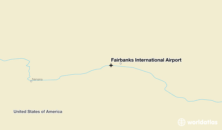 Fairbanks International Airport location on a map