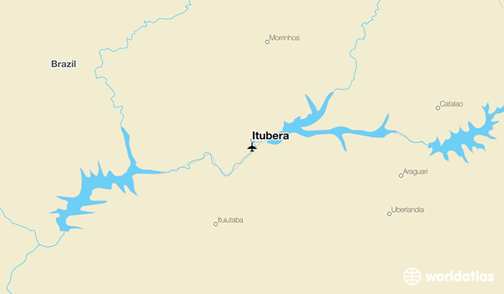 Itubera location on a map