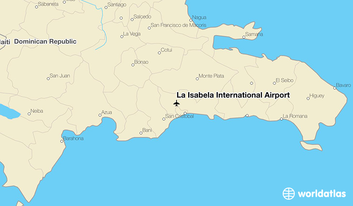 La Isabela International Airport location on a map