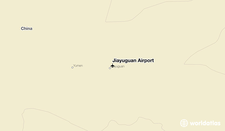 Jiayuguan Airport location on a map