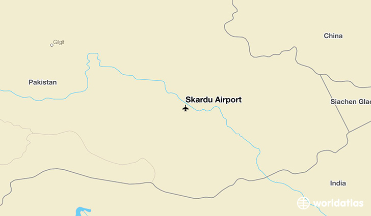 Skardu Airport location on a map