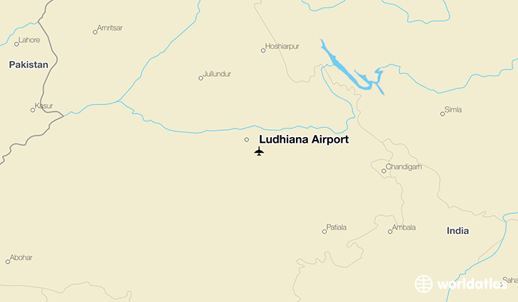 Ludhiana Airport location on a map