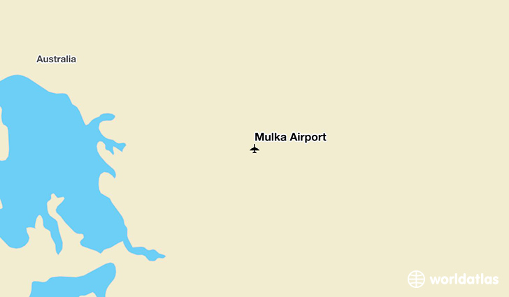 Mulka Airport location on a map