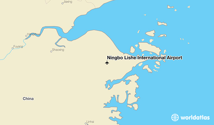 Ningbo Lishe International Airport location on a map
