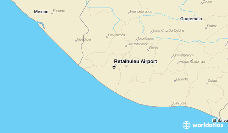 Retalhuleu Airport location on a map