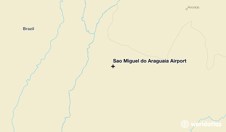 São Miguel do Araguaia Airport location on a map