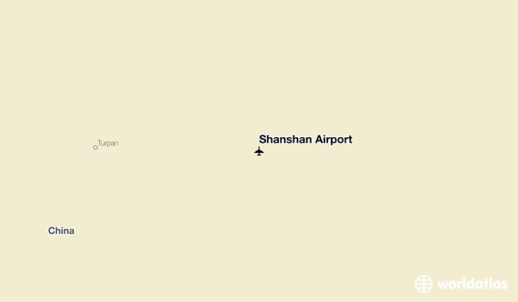 Shanshan Airport location on a map