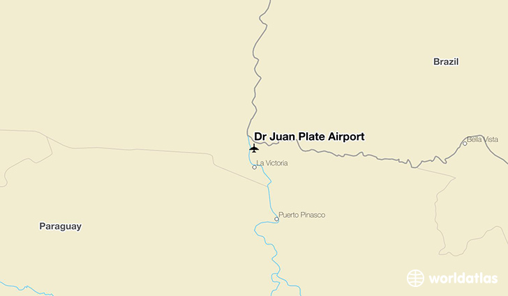 Dr Juan Plate Airport location on a map
