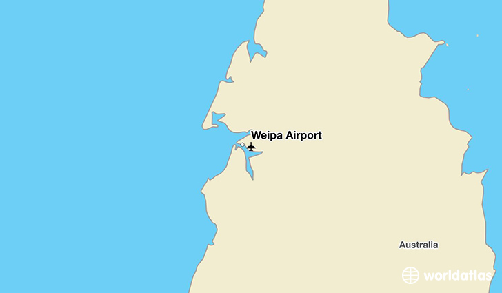 Weipa Airport location on a map