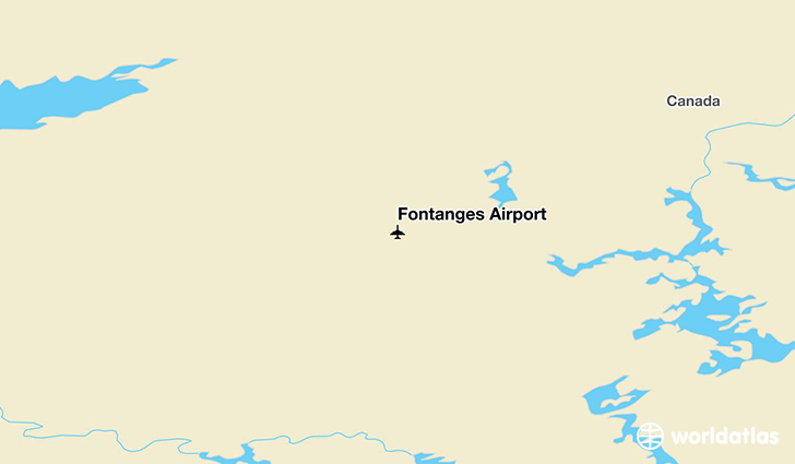 Fontanges Airport location on a map