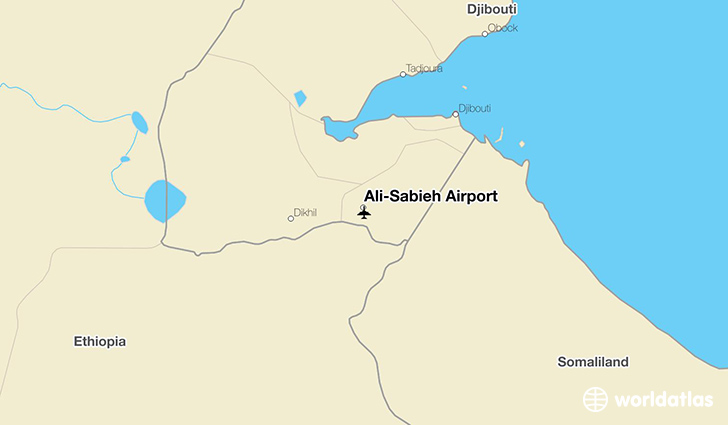 Ali-Sabieh Airport location on a map