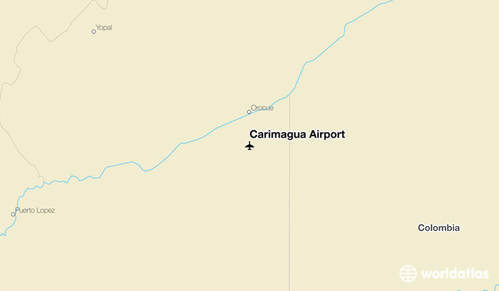 Carimagua Airport location on a map