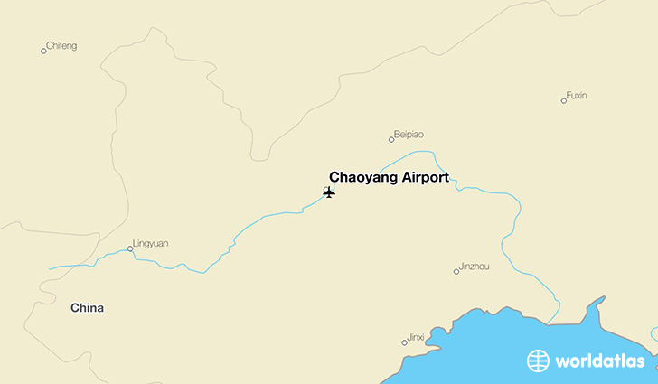 Chaoyang Airport location on a map
