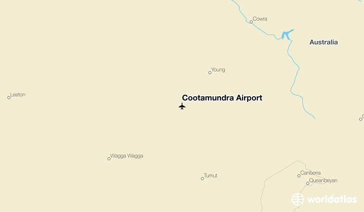 Cootamundra Airport location on a map