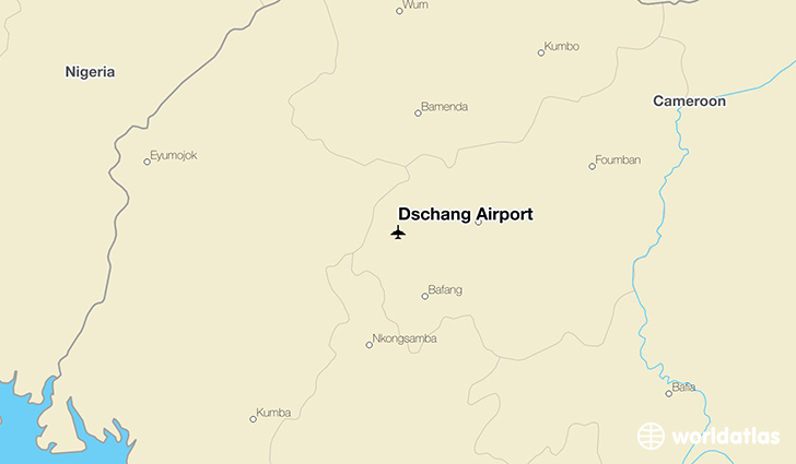 Dschang Airport location on a map
