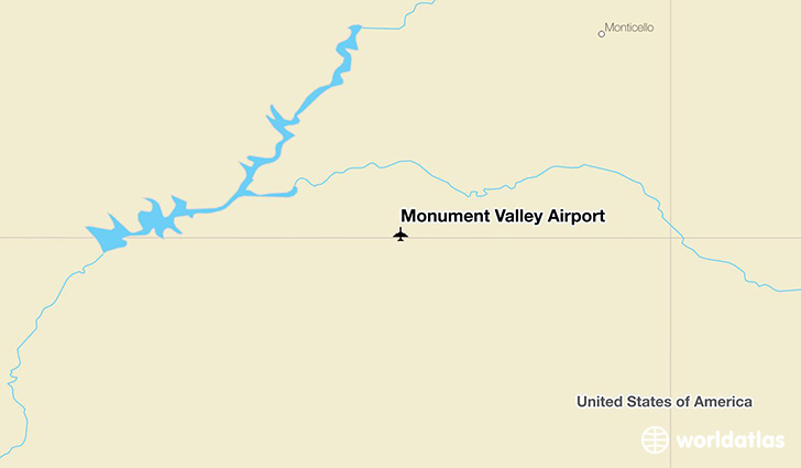 Monument Valley Airport location on a map